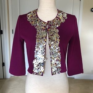 Purple Cardigan with Sequins